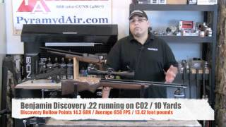 """Benjamin Discovery """"dual fuel"""" rifle on CO2 - Accurate & Economical shooting"""