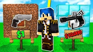 Minecraft ITA - PISTOLA DA 1€ VS MINIGUN DA 10.000€