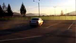 BMW 320d 136hp Stock Burnout and Donuts