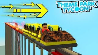 World's FASTEST ROLLER COASTER in Theme Park Tycoon 2! (Roblox)