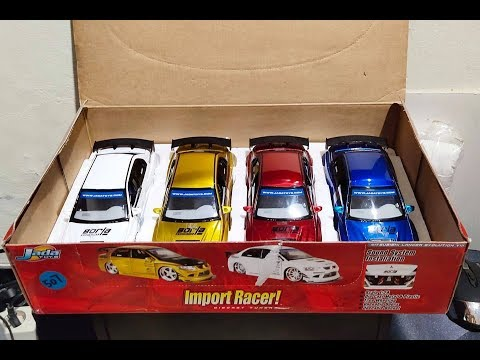 Unboxing Mitsubishi Lancer Evolution VIII - Giftpack series, Jada Toys Import Racer scale 1/24