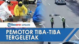 Viral Video Pria Jatuh dari Motor dan Tergeletak di Jalan Kota Bandung, Warga Berani Bantu