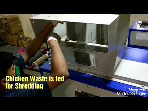 Two Stage Shredder for Food waste