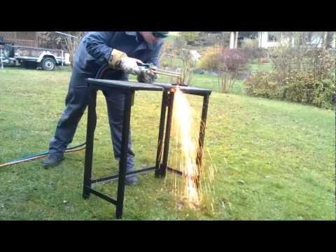 Baustahl t=10mm Brennschneiden mit Propan und Sauerstoff