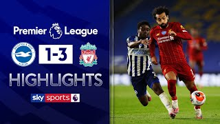 SUBSCRIBE ► http://bit.ly/SSFootballSub PREMIER LEAGUE HIGHLIGHTS ► http://bit.ly/SkySportsPLHighlights Highlights from the Premier League where Mohamed Salah scored twice for Liverpool as they beat a plucky Brighton side 3-1, ending the champions' recent scoring drought on the road.  Watch Premier League LIVE on Sky Sports here ► http://bit.ly/WatchSkyPL ►TWITTER: https://twitter.com/skysportsfootball ►FACEBOOK: http://www.facebook.com/skysports ►WEBSITE: http://www.skysports.com/football  MORE FROM SKY SPORTS ON YOUTUBE: ►SKY SPORTS CRICKET: https://bit.ly/SubscribeSkyCricket ►SKY SPORTS BOXING: http://bit.ly/SSBoxingSub ►SOCCER AM: http://bit.ly/SoccerAMSub ►SKY SPORTS F1: http://bit.ly/SubscribeSkyF1