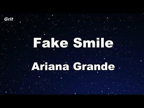 Download fake smile - Ariana Grande Karaoke 【No Guide Melody】 Instrumental Mp4 HD Video and MP3