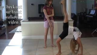 Back Walkover Tutorial - How to Do a Back Walkover - Gymnastics at Home