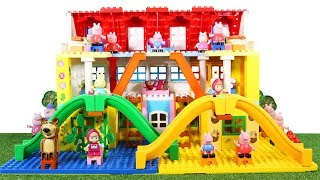 Lego Duplo House Construction Sets - Peppa Pig House With Water Slide Creations Toys For Kids #3