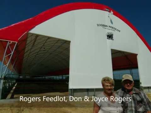 BRITESPAN 65' x 532' Beef Barn, Rogers Feedlot, Don Rogers