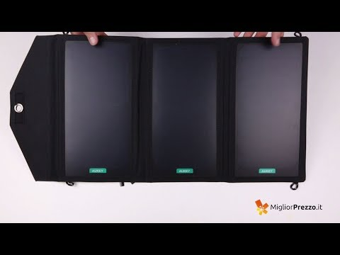 Caricabatterie Pannello Solare AUKEY PB-P2 Video Recensione