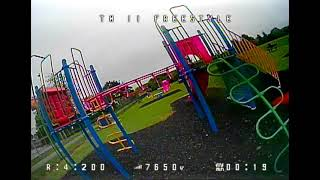 My 1st outdoor fpv flight, trying freestyle tricks with EMAX TinyHawk 2 Freestyle - I need practice!