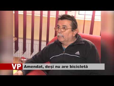 Amendat, deși nu are bicicletă