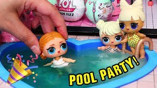LOL Surprise Doll House Pool Party ! Toys and Dolls Fun for Kids | SWTAD