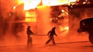 Нерюнгри. Пожар на овощном складе. 31 октября 2012г.
