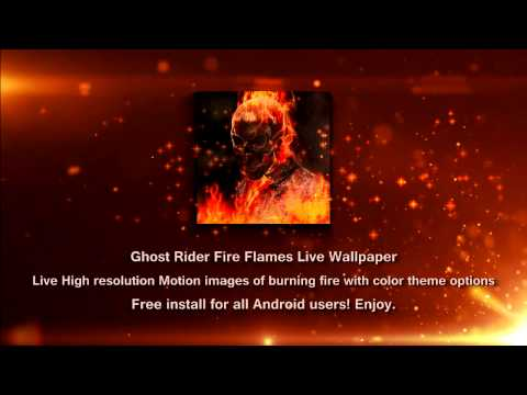 Vídeo do Ghost Rider Fire Flames LWP