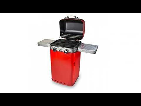 Memphis 2 Burner BBQ, Red, 52x125x117 cm