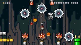 【Super Mario Maker】クリア率0%(0/17512)超メガ盛り鬼畜コースに挑戦【マリオメーカー】