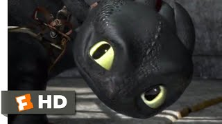 How To Train Your Dragon - Toothless Saves Hiccup Scene   Fandango Family