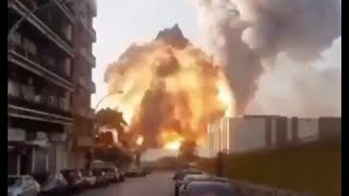 Beirut EXPLOSION that killed dozens of people CLOSE VIEW