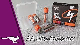 SORBO AA Lithium-Polymer-Batteries vs. Panasonic Eneloop