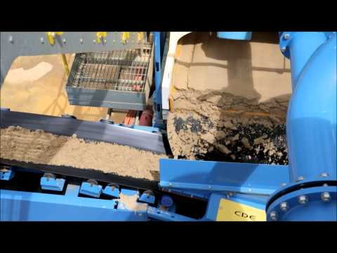 Glass sand washing at Tooperang Quarry