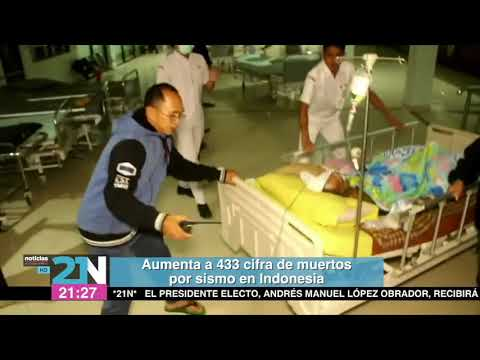 Aumenta a 433 cifra de muertos por sismo en Indonesia