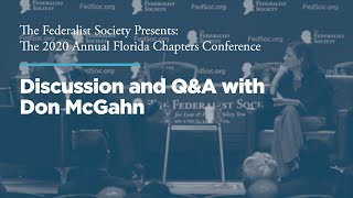 Click to play: Discussion and Q&A with Don McGahn