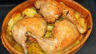 Contramuslos de pollo con patatas ( SUPER FÁCIL) / Video nº 41