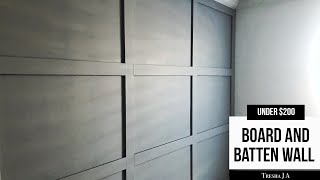 How To DIY Board And Batten Grid Accent Wall