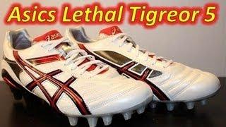 Asics Lethal Tigreor 5 White/Red/Black - UNBOXING