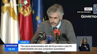 11/05: Ponto de Situação da Autoridade de Saúde sobre o Coronavírus nos Açores