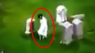 13 Mysterious Graveyard Sightings Caught On Camera