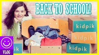 BACK TO SCHOOL CLOTHES! EMMA'S Kidpik MODEL FASHION SHOOT! |  KITTIESMAMA