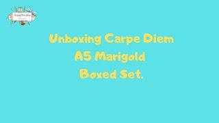 Carpe Diem A5 Marigold Boxed Set - Unboxing  (Simple Stories)