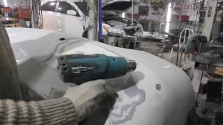 Ремонт переднего  и заднего бампера Toyota Camry acv40 - выпаиваем сетку, и кривой китайский бампер
