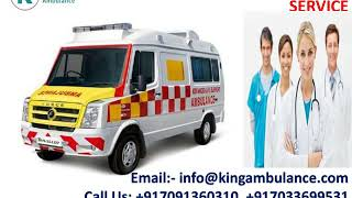 King Road Ambulance Service in Ranchi and Bokaro with Medical Facility