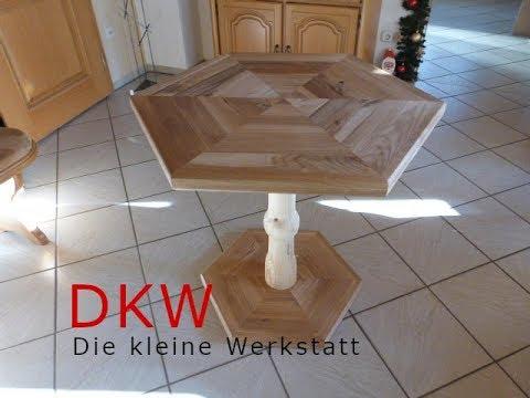 Kleinen Esstisch aus einer alten Eichen Tischplatte selber machen