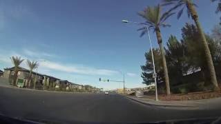 Las Vegas - Driving East on Silverado Ranch from South Point Casino