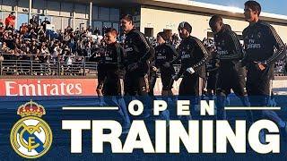 Real Madrid open training at the Alfredo Di Stéfano
