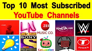 Top 10 Most Subscribed Youtube Channels in the world YouTube के 10 सबसे ज्यादा Subscribed Channels