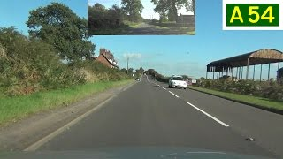 preview picture of video 'A54 - Kelsall to Winsford (Part 1) - Front View with Rearview Mirror'