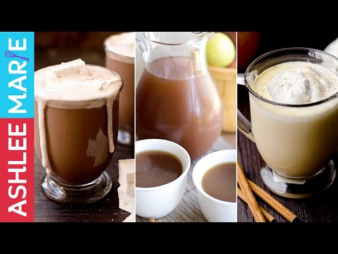 Video 3 Warm Fall Drink Recipes - Hot Chocolate, Warm Pumpkin Pie drink and Homemade Apple Cider