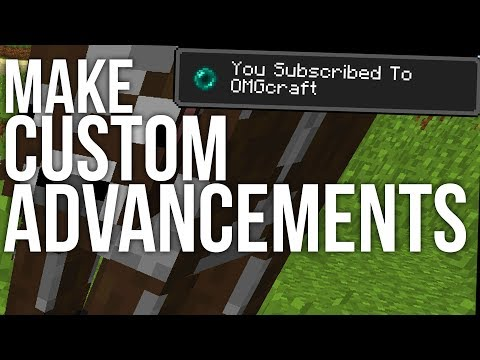 How to Make Custom Advancements in Minecraft