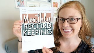 Monthly Tax Record-Keeping Log | DAYCARE & SMALL BUSINESS TAX TIPS