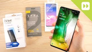 Top 3 Samsung Galaxy S10 / S10 Plus Screen Protectors