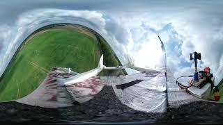 Fpv Samsung 360 gear rc plane crash test video