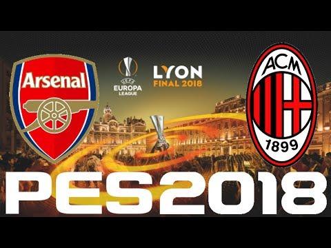PES 2018 - UEFA Europa League FINAL - ARSENAL vs AC MILAN