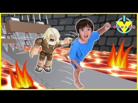 Vtubers Ryan Vs Daddy ROBLOX Let's Play Escape From Dungeon (видео)