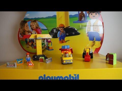 #Playmobil 123 #Schaufelbagger 70125 mit #Kipplaster 70126 mit #Baukran 70165