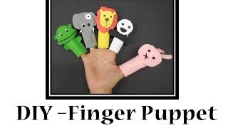 How To Make Finger Puppets Out Of Felt Cloth And Foam Sheet